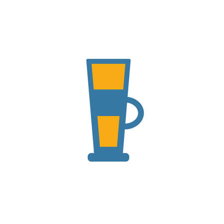 Latte icon. Simple flat element from coffe shop collection. Creative latte icon for templates, software and apps. Vectores