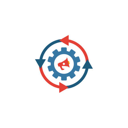 Marketing Automation icon. Simple flat element from content collection. Creative marketing automation icon for templates, software and apps. Ilustrace