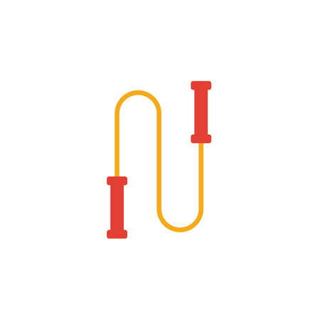 Jump Rope icon. Simple flat element from fitness collection. Creative jump rope icon for templates, software and apps.