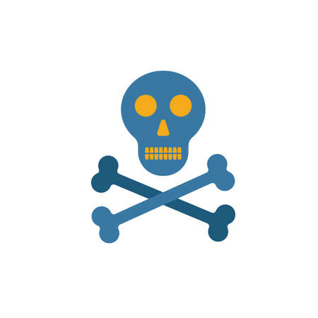 Skeleton icon. Simple flat element from halloween collection. Creative skeleton icon for templates, software and apps.