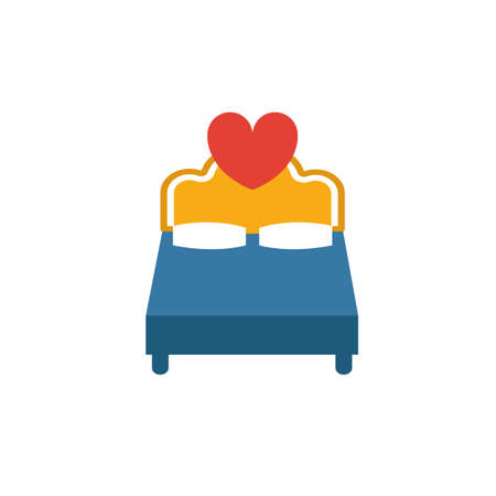 Badroom icon. Simple flat element from honeymoon collection. Creative badroom icon for templates, software and apps.