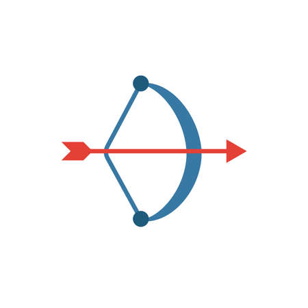 Archery icon. Simple flat element from honeymoon collection. Creative archery icon for templates, software and apps.
