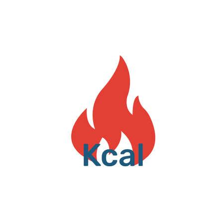 Icona brucia calorie. Semplice elemento piatto della collezione fitness. Icona creativa brucia calorie per modelli, software e app.