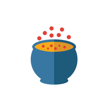 Witch Pot icon. Simple flat element from halloween collection. Creative witch pot icon for templates, software and apps. Ilustracja