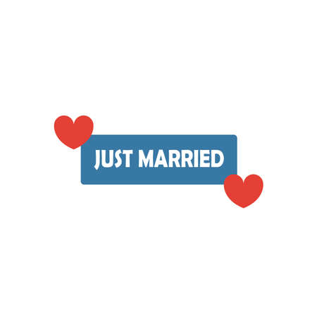 Just Married Sign icon. Simple flat element from honeymoon collection. Creative just married sign icon for templates, software and apps.