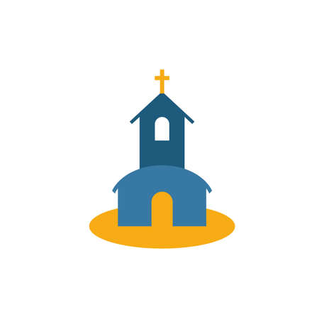 Church icon. Simple flat element from honeymoon collection. Creative church icon for templates, software and apps.