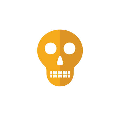 Skull icon. Simple flat element from halloween collection. Creative skull icon for templates, software and apps.