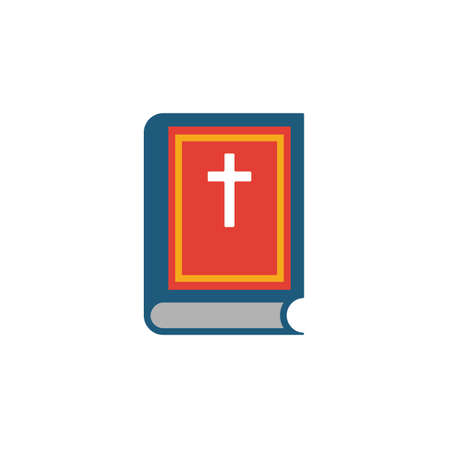 Bible icon. Simple flat element from halloween collection. Creative bible icon for templates, software and apps.