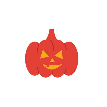 Pumpkin icon. Simple flat element from halloween collection. Creative pumpkin icon for templates, software and apps. Ilustração