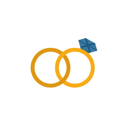 Rings icon. Simple flat element from honeymoon collection. Creative rings icon for templates, software and apps. 일러스트