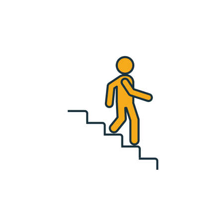 Stairs Down icon. Simple element from shopping center sign icons collection. Creative Stairs Down icon ui, ux, apps, software and infographics. Çizim
