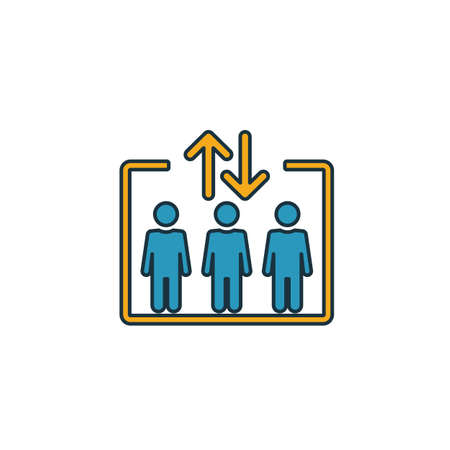 Elevator icon. Simple element from shopping center sign icons collection. Creative Elevator icon ui, ux, apps, software and infographics.