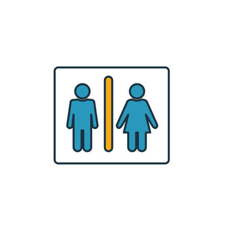 Restroom icon. Simple element from shopping center sign icons collection. Creative Restroom icon ui, ux, apps, software and infographics.