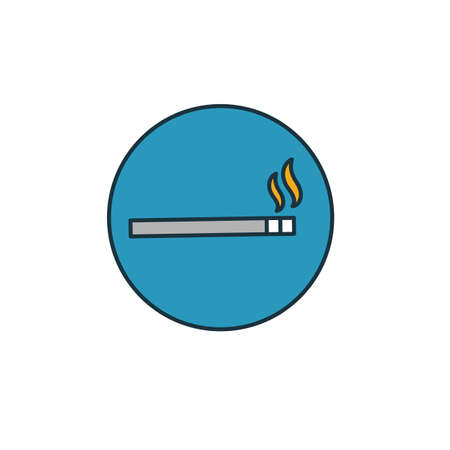 Smoking icon. Simple element from shopping center sign icons collection. Creative Smoking icon ui, ux, apps, software and infographics.