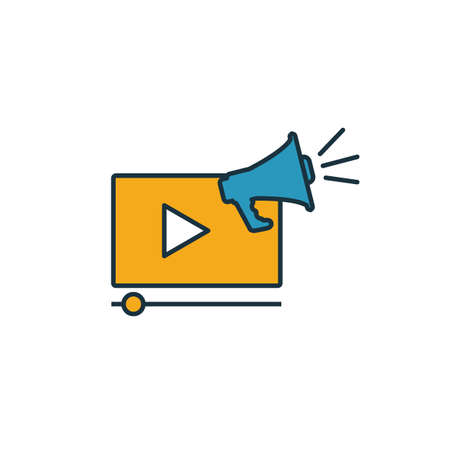 Video Marketing icon. Simple element from smm icons collection. Creative Video Marketing icon ui, ux, apps, software and infographics.