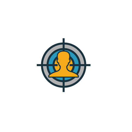 Audience Marketing icon. Simple element from smm icons collection. Creative Audience Marketing icon ui, ux, apps, software and infographics.