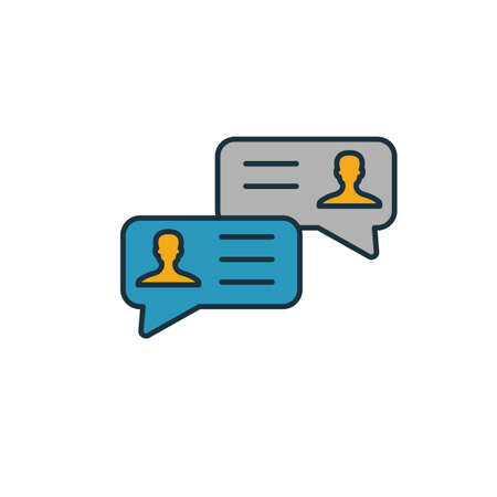 Online Chatting icon. Simple element from smm icons collection. Creative Online Chatting icon ui, ux, apps, software and infographics. Çizim