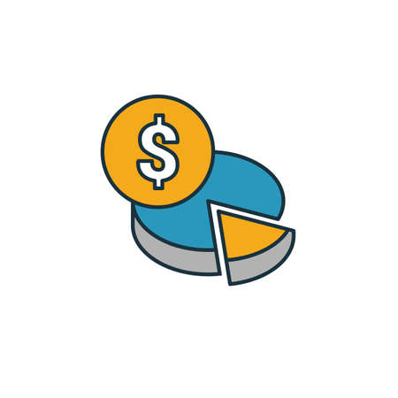 Budget Planning icon. Simple element from smm icons collection. Creative Budget Planning icon ui, ux, apps, software and infographics. Çizim