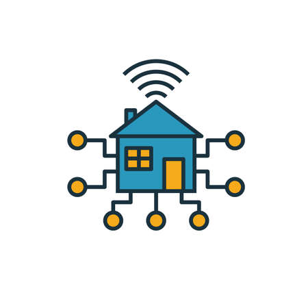 Smart House icon. Simple element from smart devices icons collection. Creative Smart House icon ui, ux, apps, software and infographics.