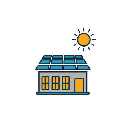 Solar Battery Roof icon. Simple element from smart devices icons collection. Creative Solar Battery Roof icon ui, ux, apps, software and infographics. 일러스트