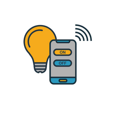 Smart Light icon. Simple element from smart devices icons collection. Creative Smart Light icon ui, ux, apps, software and infographics. Illustration