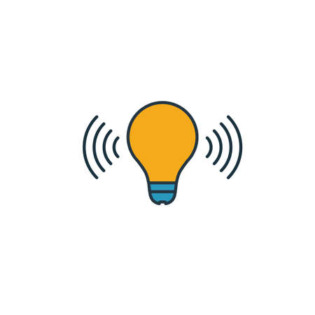 Smart Light icon. Simple element from smart home icons collection. Creative Smart Light icon ui, ux, apps, software and infographics. Çizim