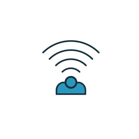 Wireless Sensor icon. Simple element from smart home icons collection. Creative Wireless Sensor icon ui, ux, apps, software and infographics. Çizim