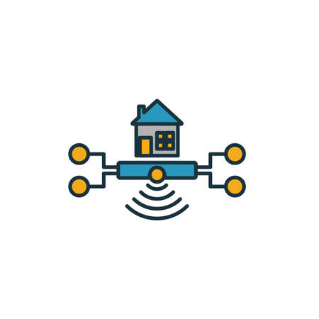 Home Hub icon. Simple element from smart home icons collection. Creative Home Hub icon ui, ux, apps, software and infographics.