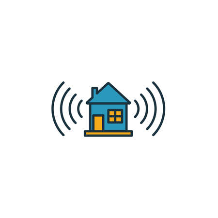 Smart Home icon. Simple element from smart home icons collection. Creative Smart Home icon ui, ux, apps, software and infographics. Çizim