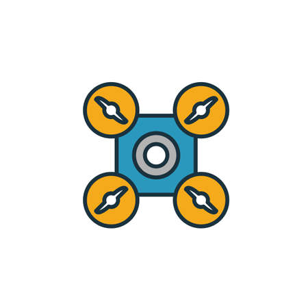 Drone icon. Simple element from smart devices icons collection. Creative Drone icon ui, ux, apps, software and infographics.