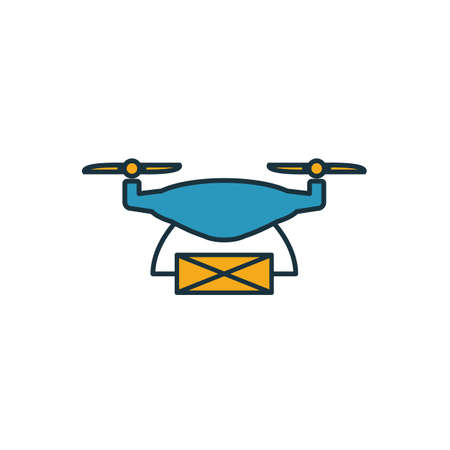 Drone Delivery icon. Simple element from smart devices icons collection. Creative Drone Delivery icon ui, ux, apps, software and infographics.