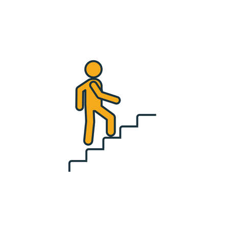Stairway Up icon. Simple element from shopping center sign icons collection. Creative Stairway Up icon ui, ux, apps, software and infographics.