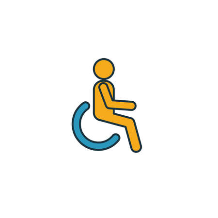 Disabled icon. Simple element from shopping center sign icons collection. Creative Disabled icon ui, ux, apps, software and infographics.