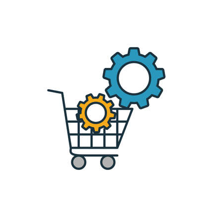 E-Commerce Optimization icon. Simple element from seo icons collection. Creative E-Commerce Optimization icon ui, ux, apps, software and infographics.