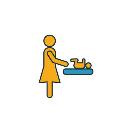 Mother And Baby Room icon. Simple element from shopping center sign icons collection. Creative Mother And Baby Room icon ui, ux, apps, software and infographics. Vettoriali