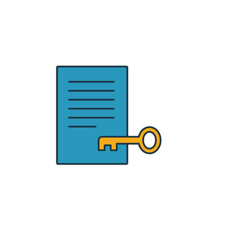Keywords icon. Simple element from seo icons collection. Creative Keywords icon ui, ux, apps, software and infographics.