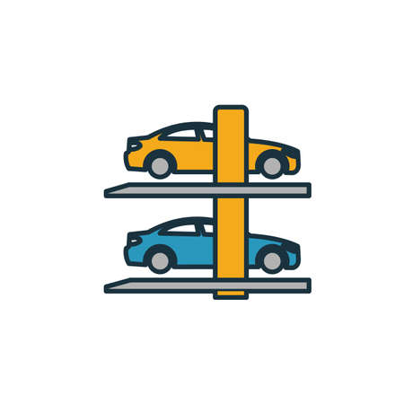 Smart Parking icon. Simple element from smart devices icons collection. Creative Smart Parking icon ui, ux, apps, software and infographics. Çizim