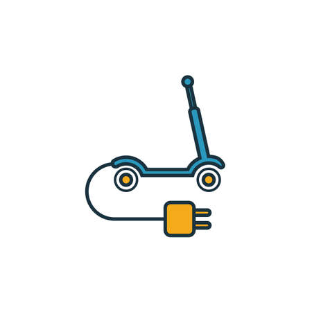 Electric Scooter icon. Simple element from smart devices icons collection. Creative Electric Scooter icon ui, ux, apps, software and infographics. Çizim