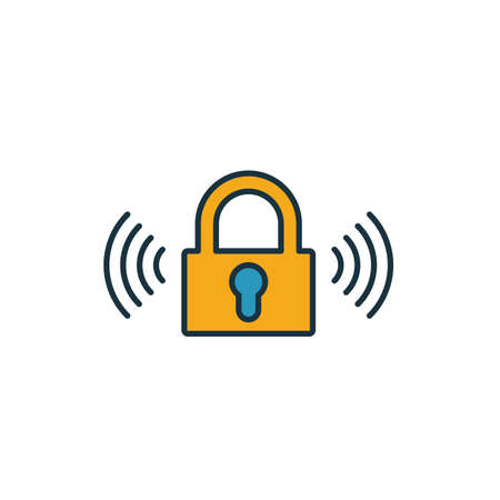 Smart Lock icon. Simple element from smart home icons collection. Creative Smart Lock icon ui, ux, apps, software and infographics. Illustration