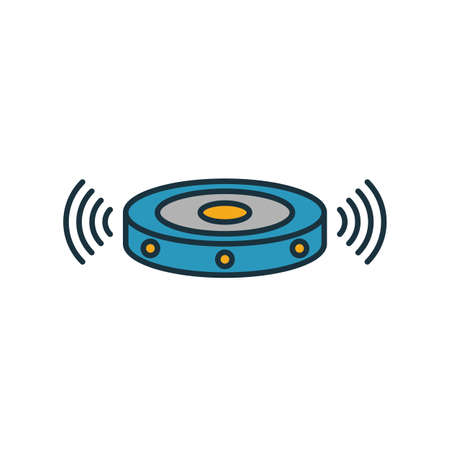 Robot Vacuum Cleaner icon. Simple element from smart home icons collection. Creative Robot Vacuum Cleaner icon ui, ux, apps, software and infographics. Ilustracja