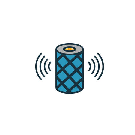 Smart Speakers icon. Simple element from smart home icons collection. Creative Smart Speakers icon ui, ux, apps, software and infographics. Illustration