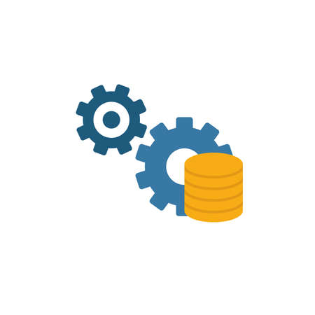Data Management icon. Colored creative element from industry 4.0 collection.