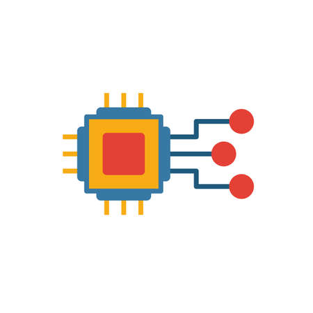 Embedded System icon. Colored creative element from industry 4.0 collection.