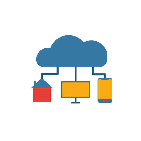 Internet Of Things icon. Colored creative element from industry 4.0 collection. Illustration
