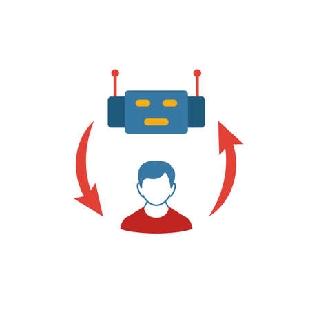 Collaborative Robotics icon. Colored creative element from industry 4.0 collection. Ilustracja