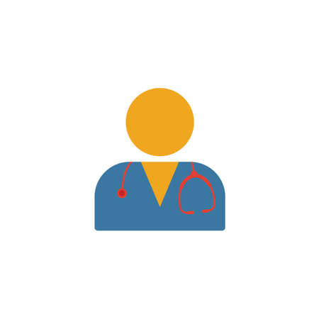 Doctor flat icon. Colored simple element from medicine collection for infographics, web design and more.
