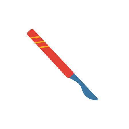 Scalpel flat icon. Colored simple element from medicine collection for infographics, web design and more.