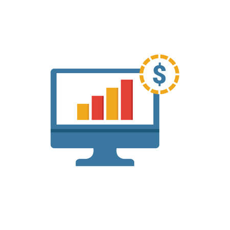 Growth Stock icon. Simple element from personal finance icons collection. Creative Growth Stock icon ui, ux, apps, software and infographics. Çizim