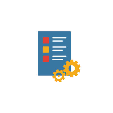 Work Plan icon. Simple element from productivity icons collection. Creative Work Plan icon ui, ux, apps, software and infographics. 일러스트