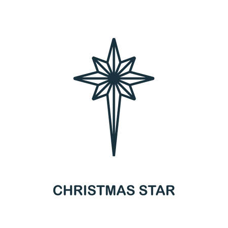 Christmas Star icon. Line style element from christmas icon collection. Thin Christmas Star icon for web design, apps, software, print usage.